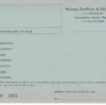 Image of Nassau Fertilizer & Oil, Co., Inc. correspondence