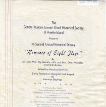 "Image of Program for ""Romance of Eight Flags""