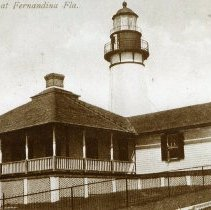 Image of Lighthouse at Fernandina Fla.  - Print, Photographic