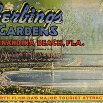Image of Gerbings Gardens--Fernandina Beach Florida - Postcard