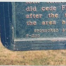Image of Historical Marker - Partial - Print, Photographic