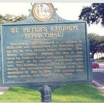 Image of Historical Marker--St Peter's Epsicopal Church - Print, Photographic