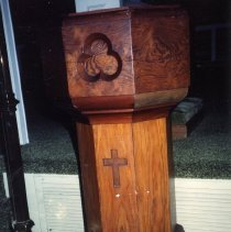 Image of Baptismal font of Epiphany Chapel - Print, Photographic