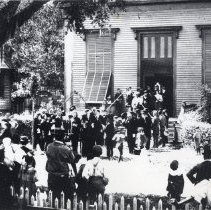 Image of Funeral of William Naylor Thompson, 1886 - Print, Photographic