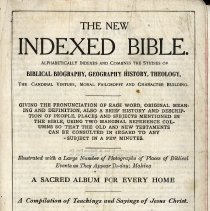 Image of 1913 Indexed Bible