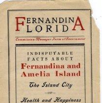 Image of Chamber of Commerce brochure about Fernandina Florida - Handbill