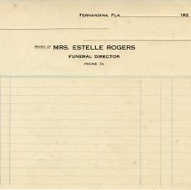 "Image of Receipt form ""Bought of Mrs. Estelle Rogers"" - Receipt"