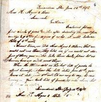 Image of Waas Ledger - Letter