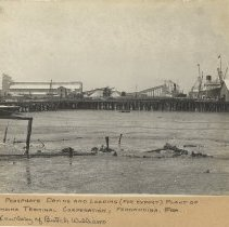 Image of Ships docked at the Phosphate Elevator - Print, Photographic