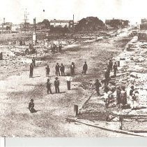 Image of City of Fernandina after the fire of March 23, 1876 - Print, Photographic