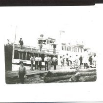 Image of The Hildegarde at the dock. - Print, Photographic