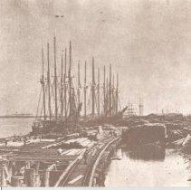 Image of Ships at docks. - Print, Photographic