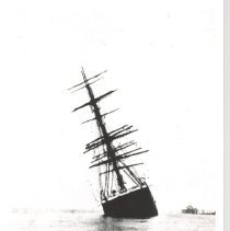 "Image of Ship ""Rosa"" aground 1908. - Print, Photographic"