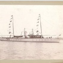 Image of Yacht in Fernandina Harbor - Print, Photographic