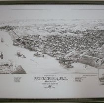 Image of Bird's eye view of Fernandina 1884