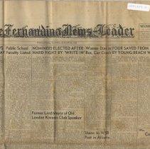 Image of Fernandina News Leader  08/14/1951