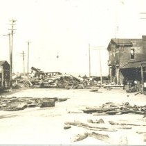 Image of Hurricane of 1898, at the foot of Centre Street