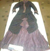 Image of Plum bustle dress - Dress
