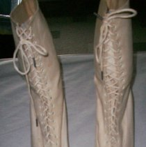 Image of White lace-up boots - Boot