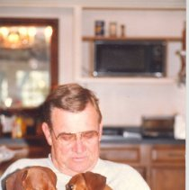Image of George T Davis  and dogs - Print, Photographic