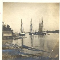 Image of Schooners on the St Mary's River  - Print, Photographic