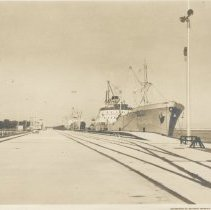 Image of First vessels to call at King's Bay - Print, Photographic