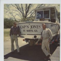 """Image of George Davis and friend with the """" Cap'n Jones """" of St Mary's GA - Print, Photographic"""