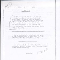 Image of Partial Abstract of Title to Lot 1, Block 244, City of Fernandina, County of Nassau County, Florida. - Deed