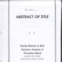 Image of Abstract of Title No. 1994-A