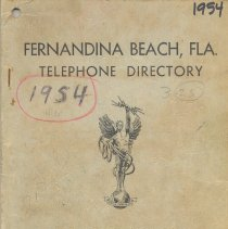 Image of 1954 Southern Bell Telephone and Telegraph Company Telephone Directory, Fernandina, FL., Aug.  - Directory, Telephone