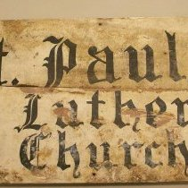 Image of Original sign from St. Pauls Ev. Lutheran Church - Sign, Trade