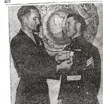 Image of Article of Allaband recieving UN medal