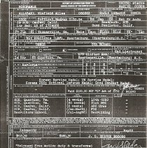 Image of Allaband's honorable discharge papers