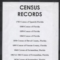 Image of Census records (various) - Book