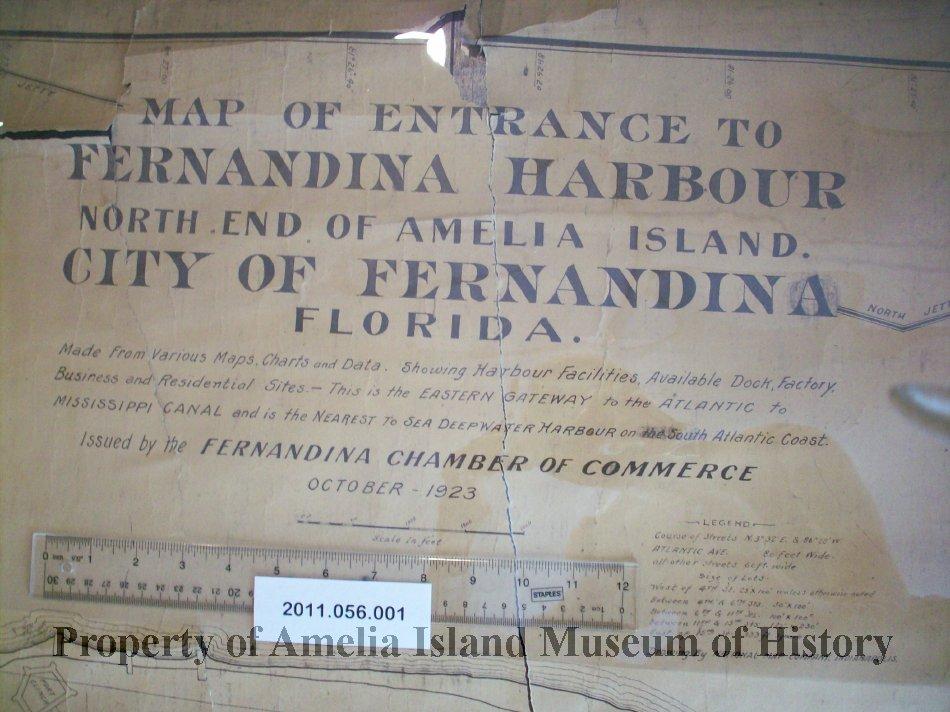 Amelia City Florida Map.Map Of Entrance To Fernandina Harbour North End Of Amelia Island