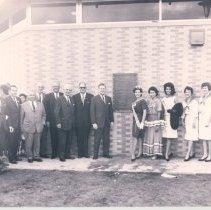 Image of Marine Welcome Center dedication January 1963 - Print, Photographic