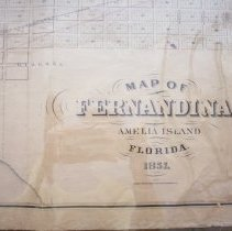 Image of Map of Fernandina, Amelia Island, Florida, 1857 - Map