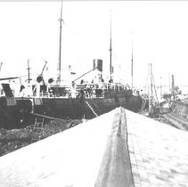 Image of Ship by the dock. - Print, Photographic
