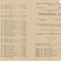 Image of 1908 Telephone Directory