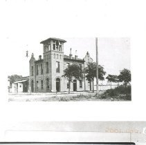 Image of City Hall under construction. With negative - Print, Photographic