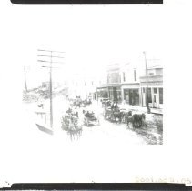 Image of Spanish-American War soldiers wagon train on Centre Street - Print, Photographic