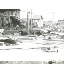 Image of Aftermath of the 1898 Hurricane on 2nd Street, - Print, Photographic