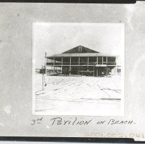 Image of 3rd pavilion on the beach. With negative - Print, Photographic