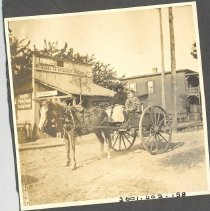 Image of Horse and wagon in front of The Racket Store