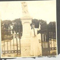 Image of Lady at Villalonga Cemetery - Print, Photographic