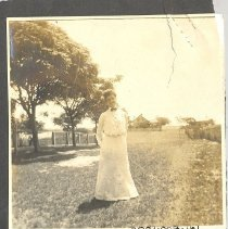 Image of Lady in a yard - Print, Photographic