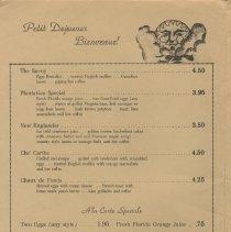 Image of Amelia Island Inn menu