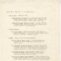 Image of Menus R. R. Donnelley Co.    - Menu
