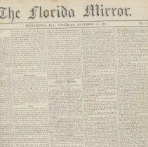 Image of The Florida Mirror Volume Four - Newspaper