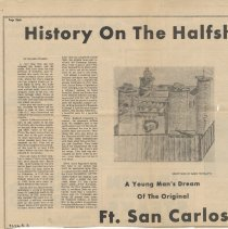 Image of History of the halfshell.......Ft. San Carlos - Newspaper